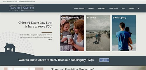 website design estate attorney