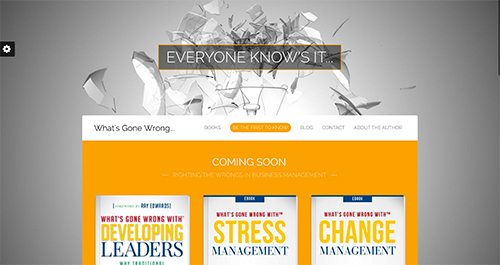 web design for new author