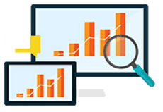 Computer Icon for analytics