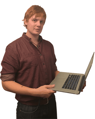 Matthew with laptop