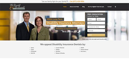 disability Lawyers website