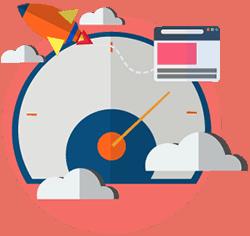 fast websites vector