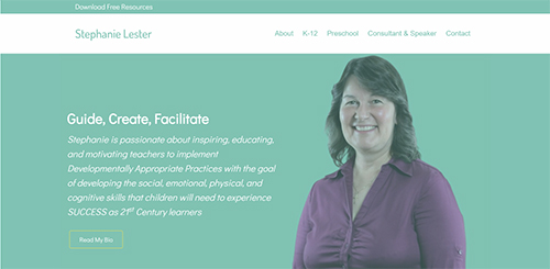 consultant-and-educator-website